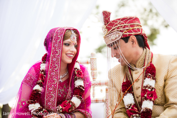 Ceremony in Savannah, GA Indian Fusion Wedding by Jamie Howell Photography