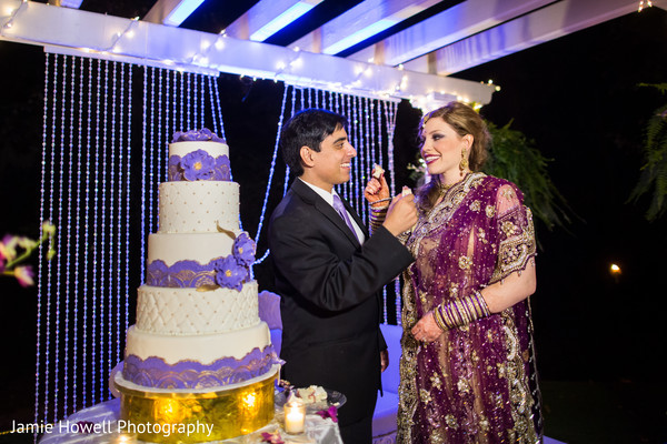 Cake Cutting in Savannah, GA Indian Fusion Wedding by Jamie Howell Photography