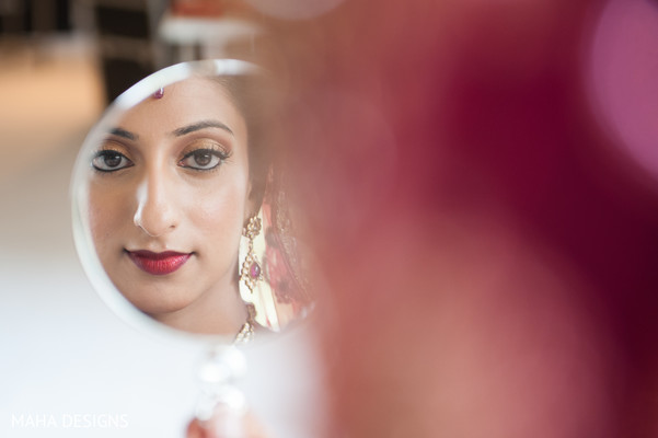 Getting Ready in Chicago, IL South Asian Wedding by Maha Designs