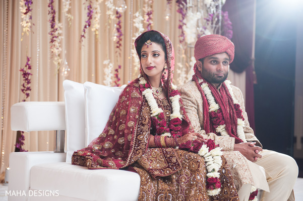 Ceremony in Chicago, IL South Asian Wedding by Maha Designs