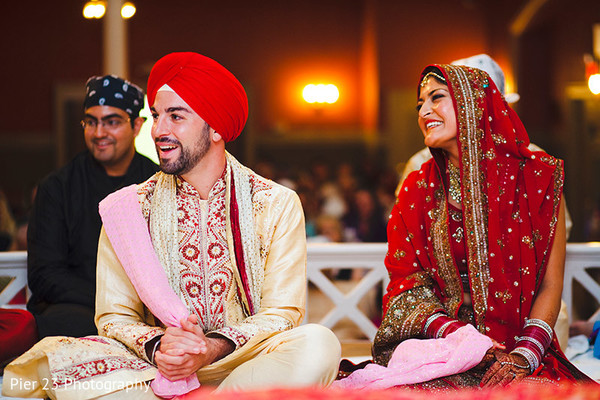 Ceremony in Washington, DC Indian-Jewish Fusion Wedding by Pier 23 Photography