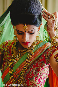 indian bride getting ready