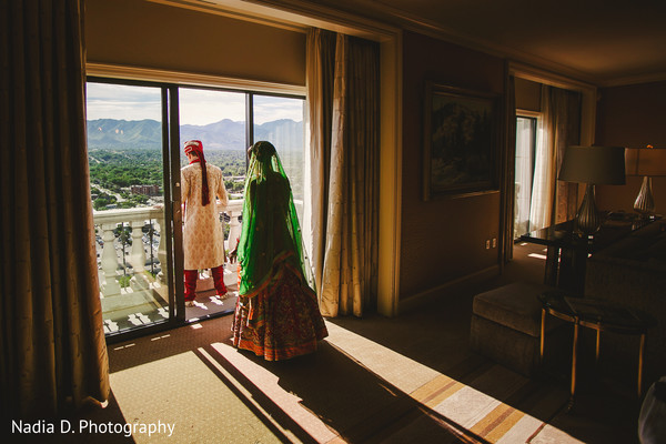 First Look in Salt Lake City, UT Indian Wedding by Nadia D. Photography