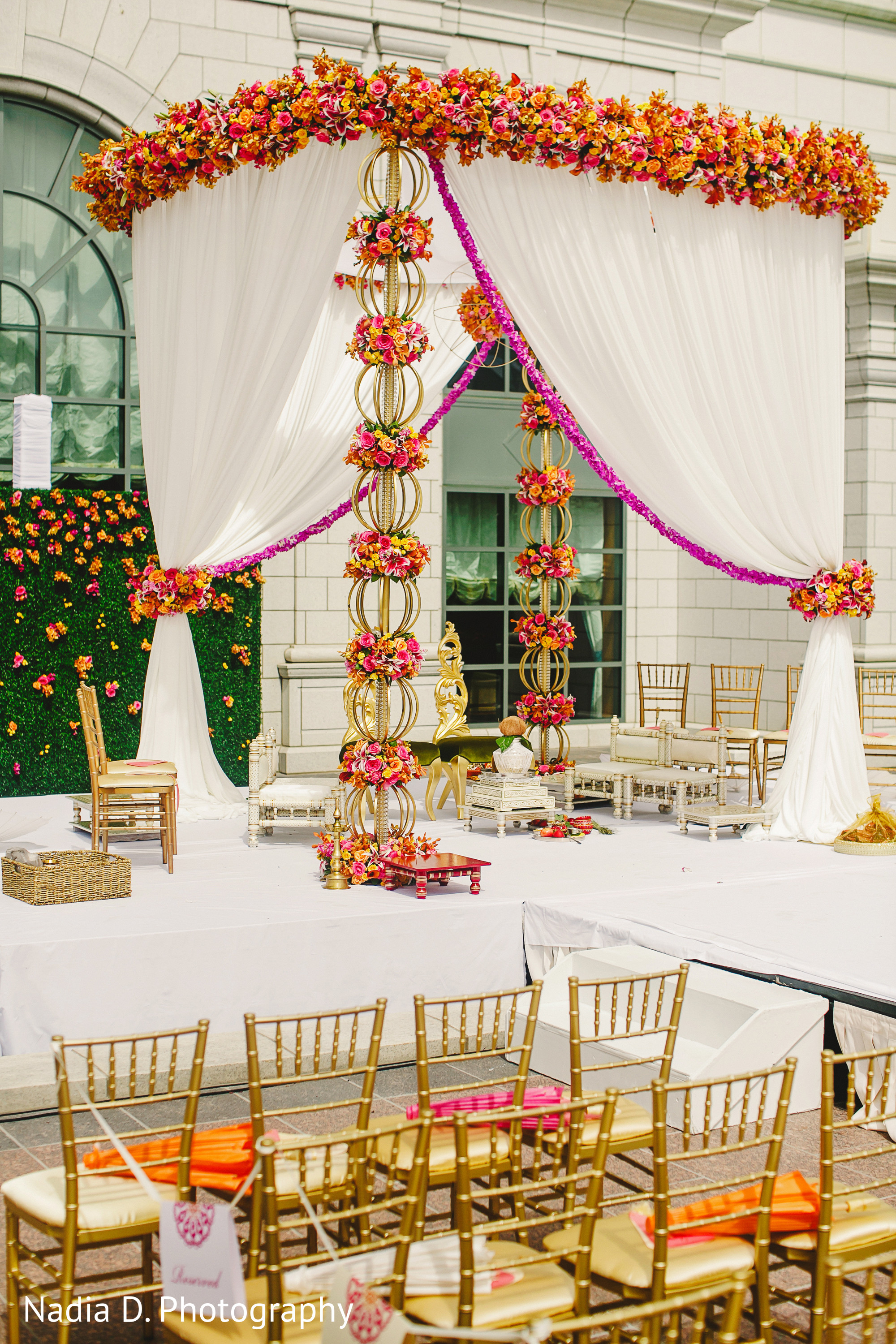 Floral decor in salt lake city ut indian wedding by for Artificial flower decoration mandap