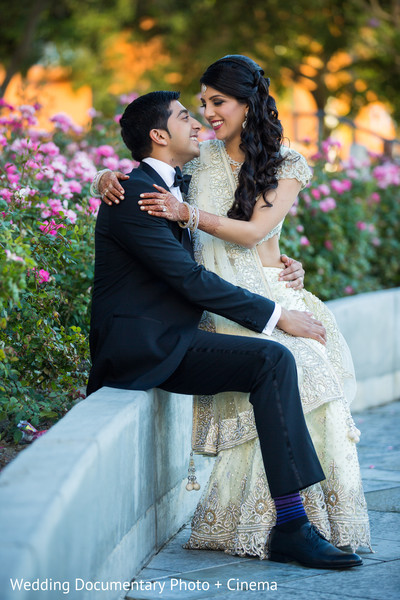 Reception Portrait in San Jose, CA Indian Wedding by Wedding Documentary Photo + Cinema