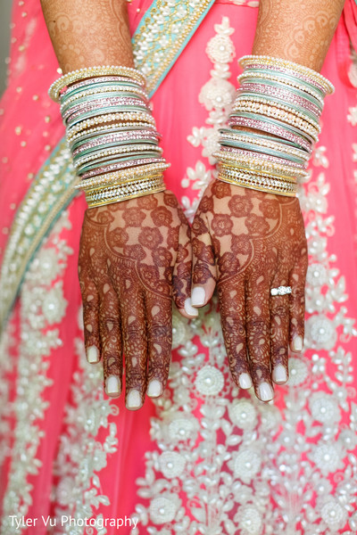Bridal Mehndi in Sacramento, CA Indian Wedding by Tyler Vu Photography