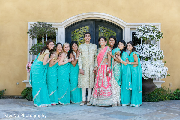 Wedding Party Portrait in Sacramento, CA Indian Wedding by Tyler Vu Photography