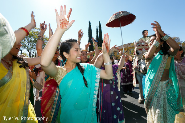 Baraat in Sacramento, CA Indian Wedding by Tyler Vu Photography