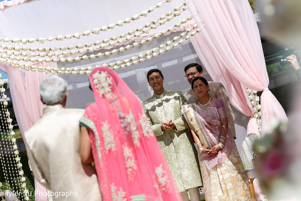 Ceremony in Sacramento, CA Indian Wedding by Tyler Vu Photography