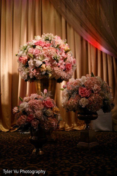 Floral & Decor in Sacramento, CA Indian Wedding by Tyler Vu Photography