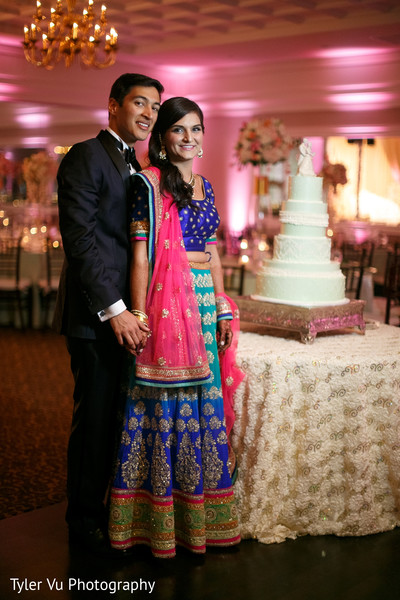 Reception Portrait in Sacramento, CA Indian Wedding by Tyler Vu Photography