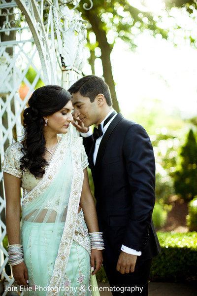 Reception Portrait in Rockleigh, NJ Indian Reception by Joie Elie Photography & Cinematography