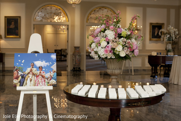 Floral & Decor in Rockleigh, NJ Indian Reception by Joie Elie Photography & Cinematography