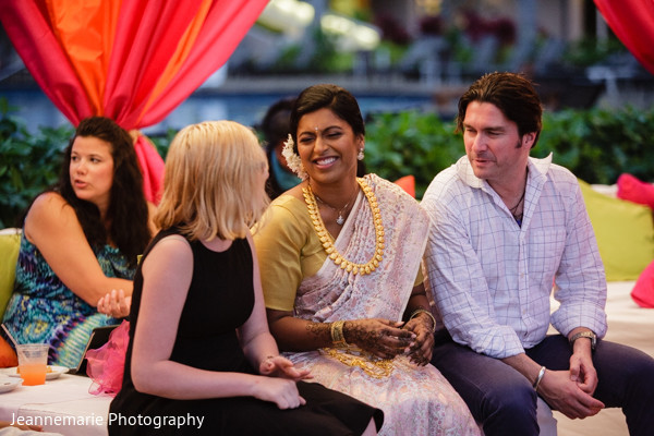 Sangeet in Lihue, HI South Indian Fusion Wedding by Jeannemarie Photography
