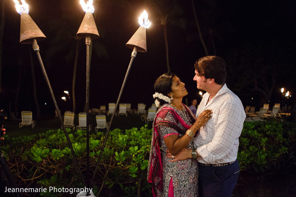 Pre-Wedding Portrait in Lihue, HI South Indian Fusion Wedding by Jeannemarie Photography