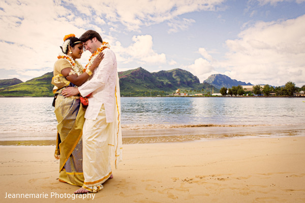 Wedding Portraits in Lihue, HI South Indian Fusion Wedding by Jeannemarie Photography