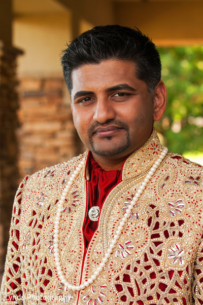 Groom Portrait in Brentwood, CA Indian Fusion Wedding by Lynds Photography