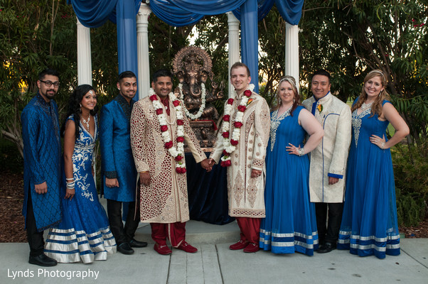 Wedding Portraits in Brentwood, CA Indian Fusion Wedding by Lynds Photography