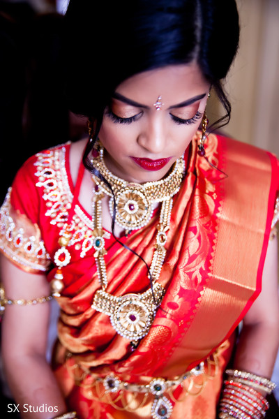 Bridal Portrait in Uniondale, NY Indian Wedding by SX Studios