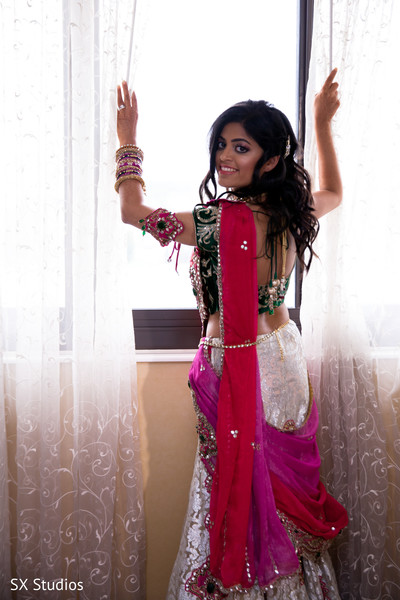 indian bride getting ready,indian wedding lengha,indian wedding lehenga