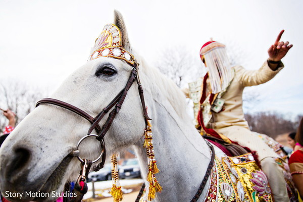 Baraat in Chantilly, VA Indian Wedding by Story Motion Studios