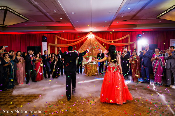 Reception in Chantilly, VA Indian Wedding by Story Motion Studios