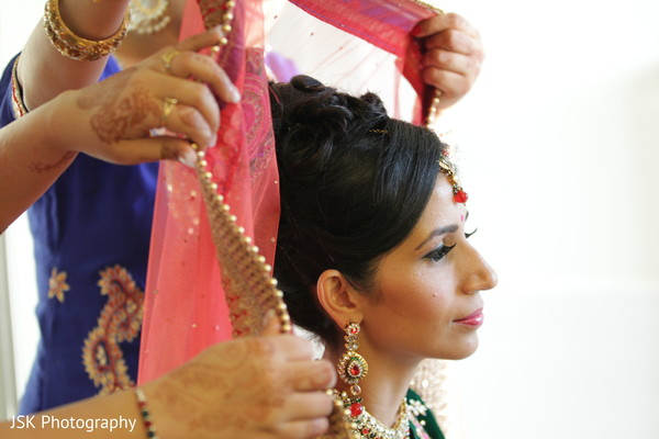 Getting ready in Selma, CA Sikh Indian Wedding by JSK Photography