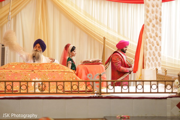 Ceremony in Selma, CA Sikh Indian Wedding by JSK Photography