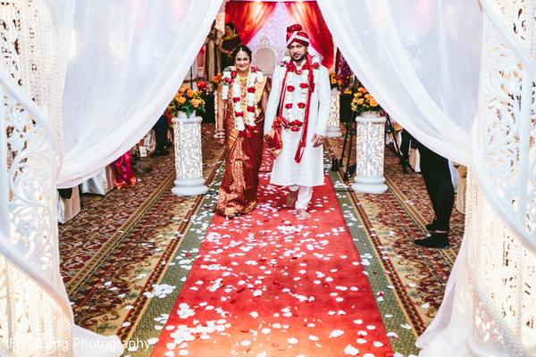 Ceremony in Augusta, GA South Indian Wedding by FengLong Photography