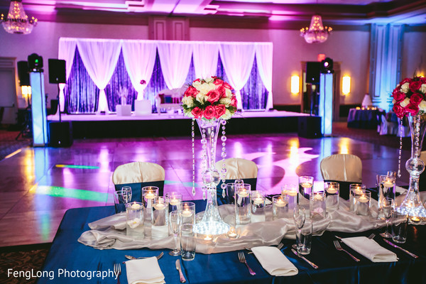 Reception Decor in Augusta, GA South Indian Wedding by FengLong Photography