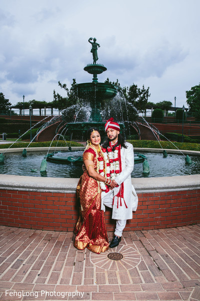 Portraits in Augusta, GA South Indian Wedding by FengLong Photography