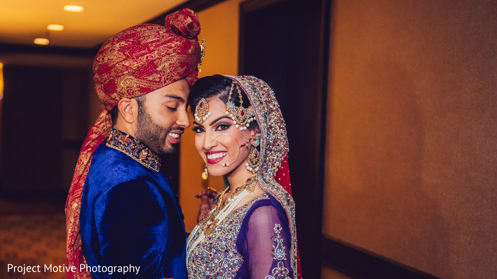 First Look in Tysons Corner, VA Pakistani Wedding by Project Motive Photography