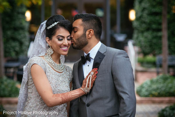 Reception Portrait in Tysons Corner, VA Pakistani Wedding by Project Motive Photography