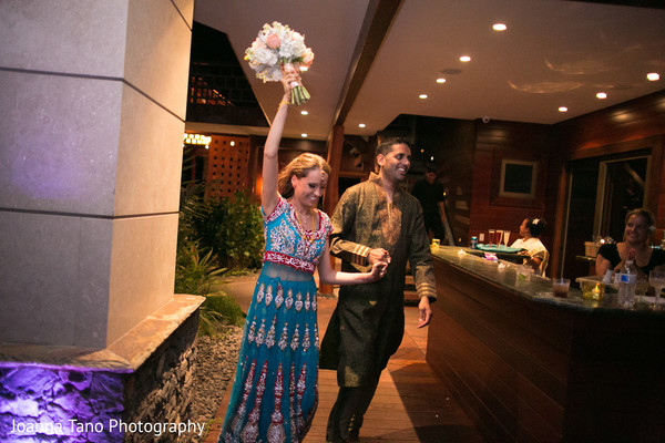 Reception in Maui, Hawaii Destination Indian Wedding by Joanna Tano Photography