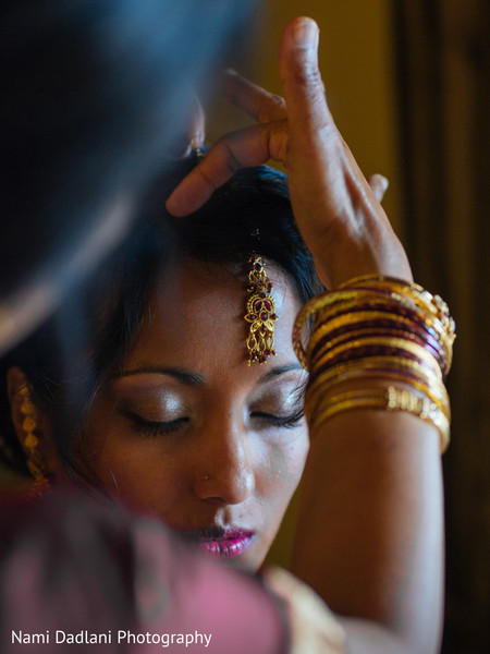 Getting Ready in Fort Lauderdale, FL Indian-Chinese Fusion Wedding by Nami Dadlani Photography