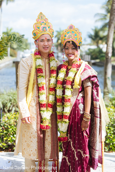 Ceremony in Fort Lauderdale, FL Indian-Chinese Fusion Wedding by Nami Dadlani Photography