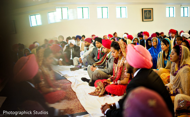 Ceremony in Baltimore, MD Sikh Indian Wedding by Photographick Studios