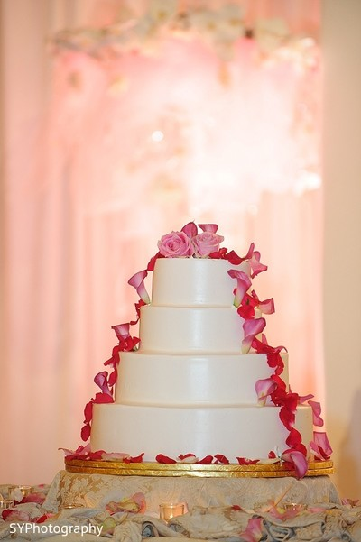 Wedding Cake in Woodbury, NY Pakistani Wedding by SYPhotography