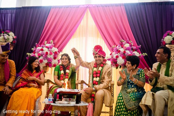 Ceremony in Seattle, WA Indian Wedding by Jerome Tso Photography