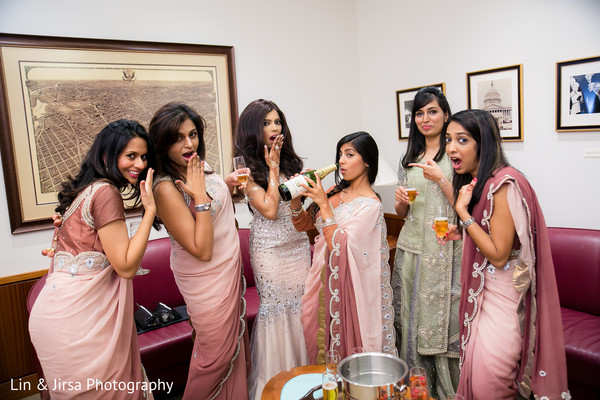 Bridal Party in Yorba Linda, CA Pakistani Indian Fusion Wedding by Lin & Jirsa Photography