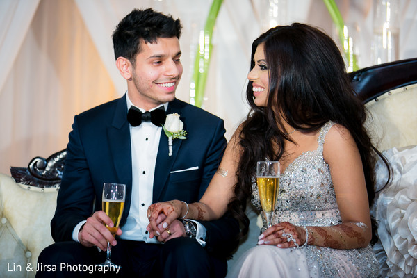 Reception in Yorba Linda, CA Pakistani Indian Fusion Wedding by Lin & Jirsa Photography