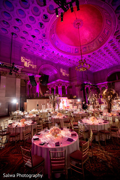 Reception Decor in New York, New York Indian Wedding by Salwa Photography