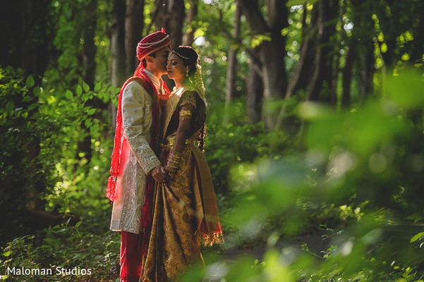First Look in Tysons Corner, VA Indian Wedding by Maloman Studios