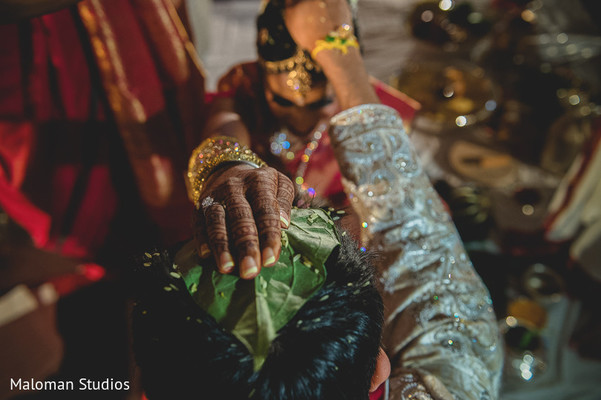 Ceremony in Tysons Corner, VA Indian Wedding by Maloman Studios