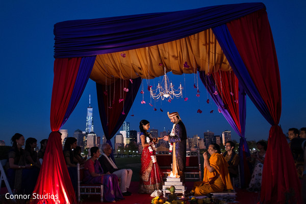 Ceremony in New York, NY Indian Wedding by Connor Studios