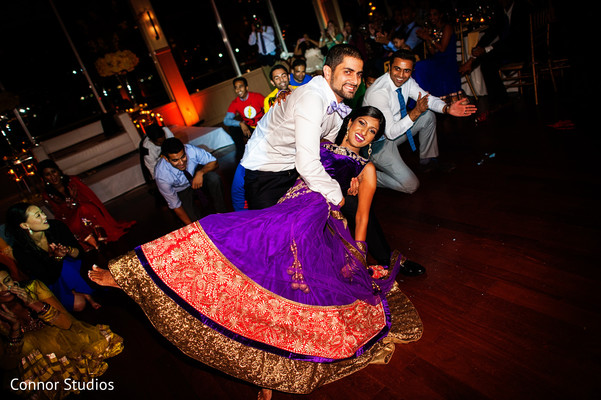 Reception in New York, NY Indian Wedding by Connor Studios