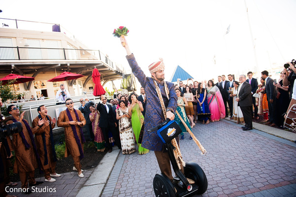 Baraat in New York, NY Indian Wedding by Connor Studios