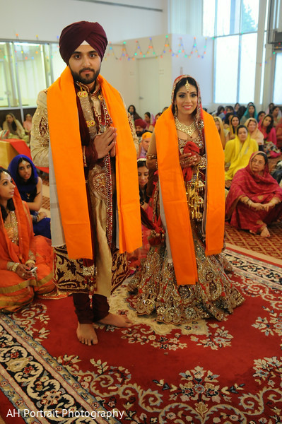 Ceremony in Forest Hill, NY Sikh Wedding by AH Photography