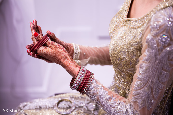Getting Ready in Woodbury, NY Indian Wedding by SX Studios