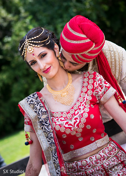 First Look in Woodbury, NY Indian Wedding by SX Studios